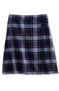 plad-skirt